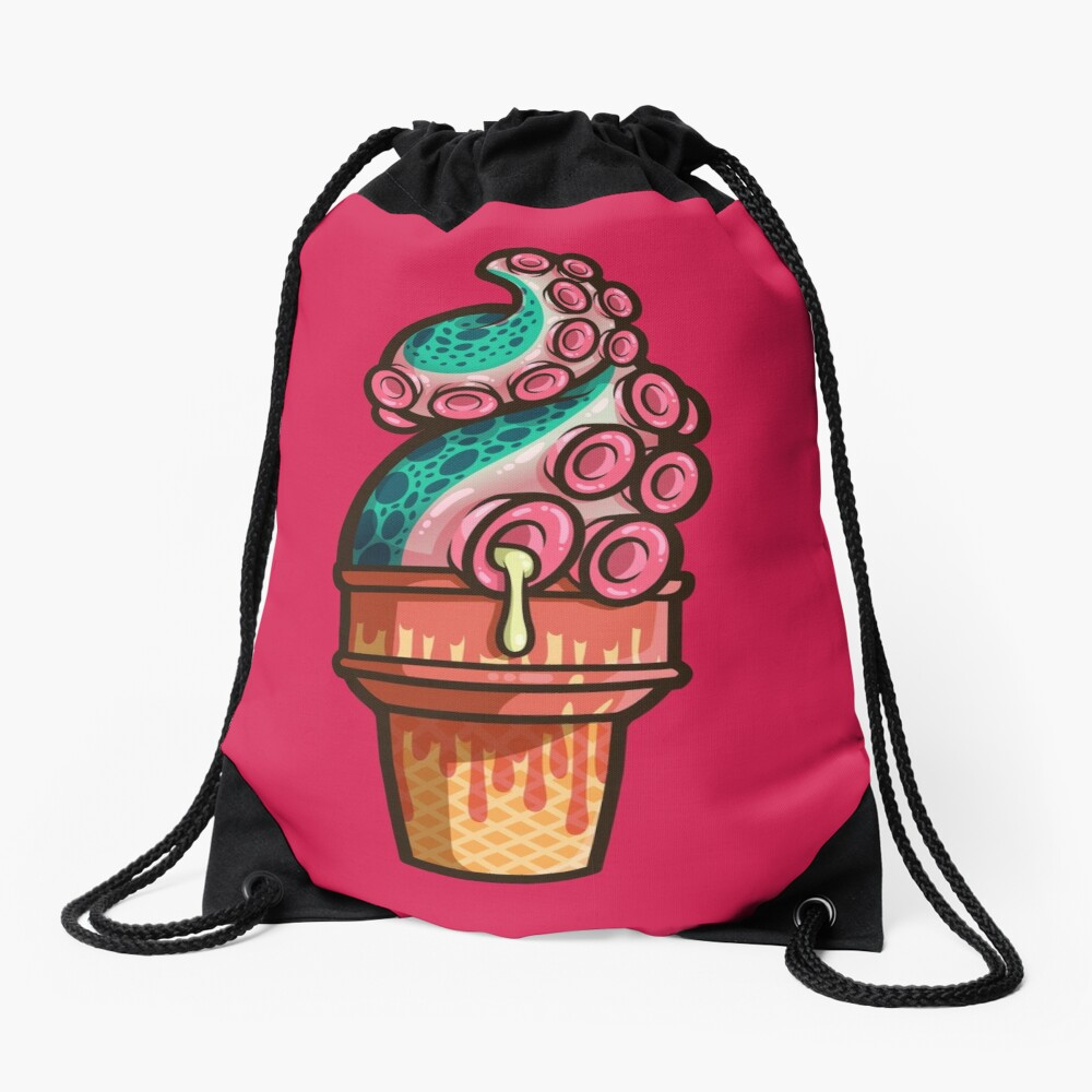 Swirly Tentacle Treat (gumdrop) Drawstring Bag