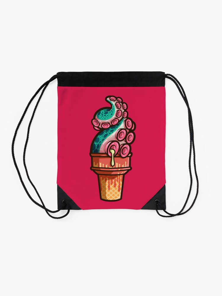 Alternate view of Swirly Tentacle Treat (gumdrop) Drawstring Bag