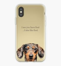 Funny and Hungry Dachshund iPhone Case