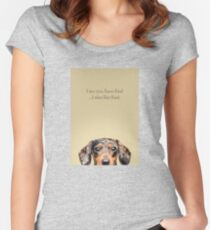 Funny and Hungry Dachshund Women's Fitted Scoop T-Shirt