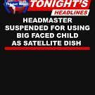 Headmaster Suspended Big Faced Child Satellite Dish by McPod