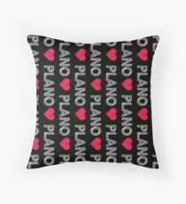 I love Plano sketchy vintage art Throw Pillow