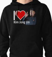 Sudadera con capucha Camiseta fantástica I Love Kim Jong Un