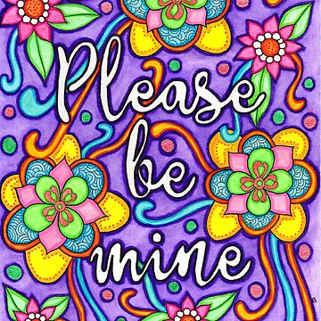 Watercolor Doodle Art | Please Be Mine by coloringiship
