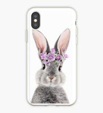 Häschen mit Blumen iPhone-Hülle & Cover