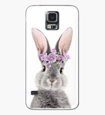 Häschen mit Blumen Hülle & Skin für Samsung Galaxy