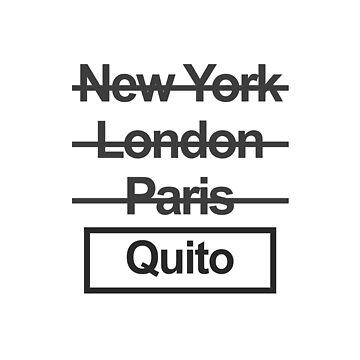 Ecuador Quito City Text design by GetItGiftIt