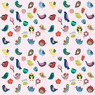 Vintage Vögel und Blumen von kennasato