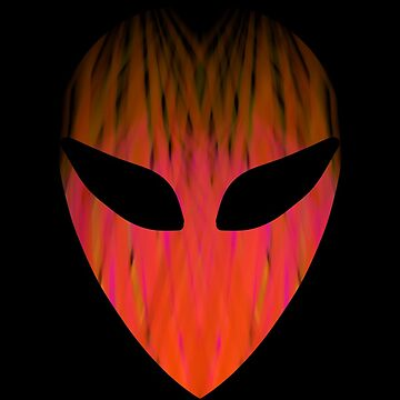 Fire alien head by mcb-jp