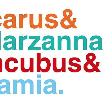 Icarus & Marzanna & Incubus & Lamia. by sky-alive