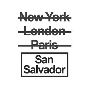 El Salvador San Salvador City Text design by GetItGiftIt