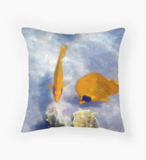 Gorgeous Beauties In The Red Sea Underwater Photography Throw Pillow