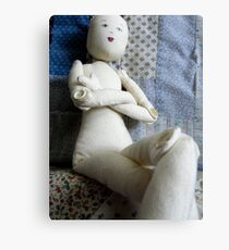 doll with no hair Metal Print