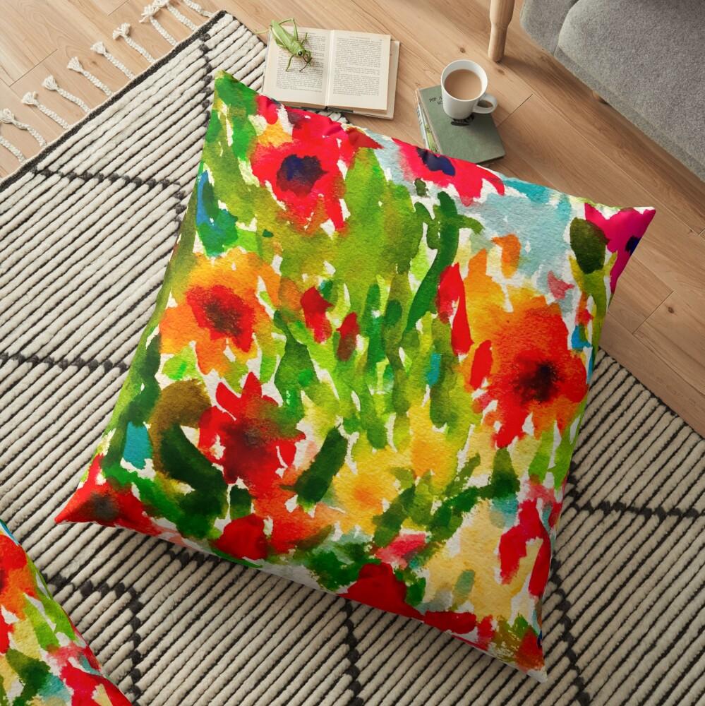 Flower Pop Floor Pillow