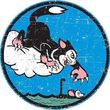 Sea Control Squadron 31 (VS-31) Topcats - Grunge Style by pzd501
