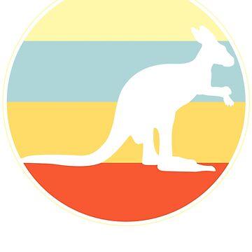 Retro Vintage Kangaroo by 4tomic