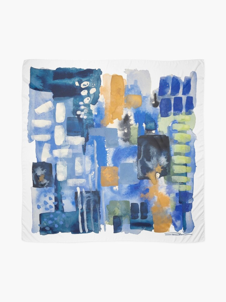 Alternate view of Ginger Jars Abstract Scarf