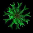 Green Filigree Fractal Flower by Lynn Bolt