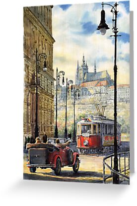 Prague Kaprova Street by Yuriy Shevchuk