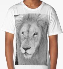 White Lion male portrait  Long T-Shirt