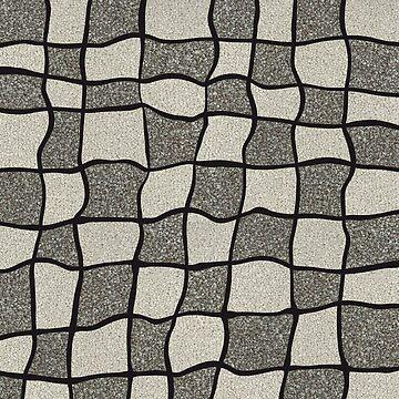 Swirly Tweed Check Design - Beige by cmphotographs
