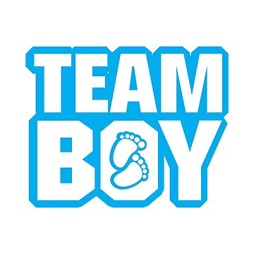 Team Boy Baby Shower Gender Reveal Party Blue  by macshoptee