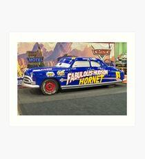 Fabulous HUDSON Hornet ~ From the movie CARS! Art Print