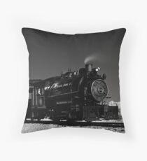 Flagg Coal Steam Engine BW IR 1 Throw Pillow
