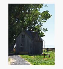 House at Sod House Ranch, Oregon Photographic Print