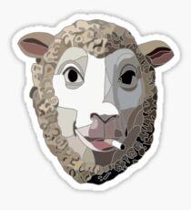 Pegatina La cabeza y la oveja humeante de corazón