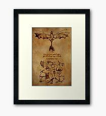 DaVinci's Dragon (Hiccup's Sketchbook) Framed Print
