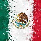 «Bandera de México Acción Pintura - Grunge Desordenado» de Garyck Arntzen