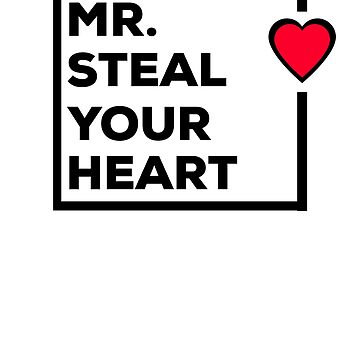 Mr Steal Your Heart Valentines Boys Gift  by CheerfulDesigns