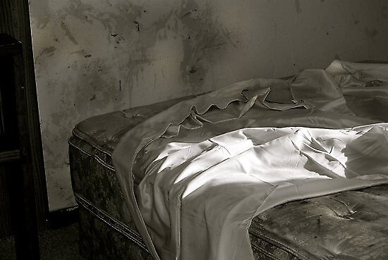 A loverless bed by Dacey Barnes
