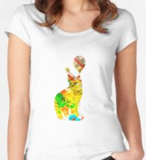 Abstract Cat Design Women's Fitted Scoop T-Shirt