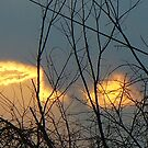 flaming clouds by Doreen Connors