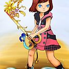 Digital Painting | Kairi of Kingdom Hearts | Destiny's Embrace Keyblade by junesketches