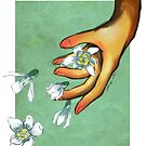 Digital Painting | Blooming Hands | Snowdrops by junesketches