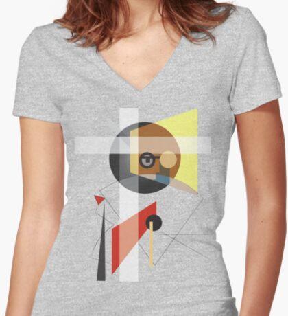 Rudolf Carnap Women's Fitted V-Neck T-Shirt
