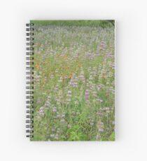 Bee Balm and Firewheel Spiral Notebook