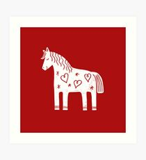 Dala-Pferd Kunstdruck