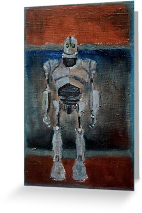 Iron giant greeting cards by renee bolinger redbubble iron giant by renee bolinger m4hsunfo