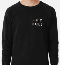 Joy Full - White Lightweight Sweatshirt