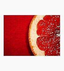 Red Grapefruit Photographic Print