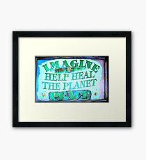 Heal the World~Peace Framed Print