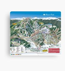 Beaver Creek Ski Resort Trail Map Colorado Snowboard Mountain Canvas Print