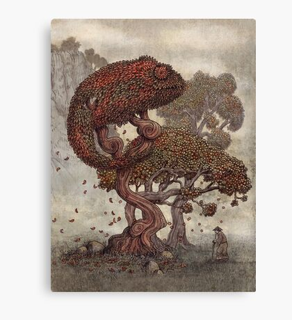 Autumn Chameleon  Canvas Print