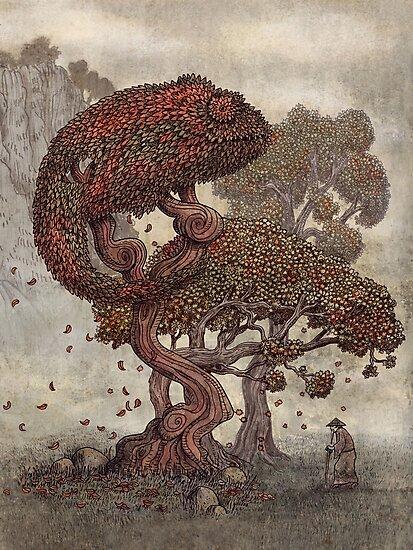 Autumn Chameleon  by Terry  Fan