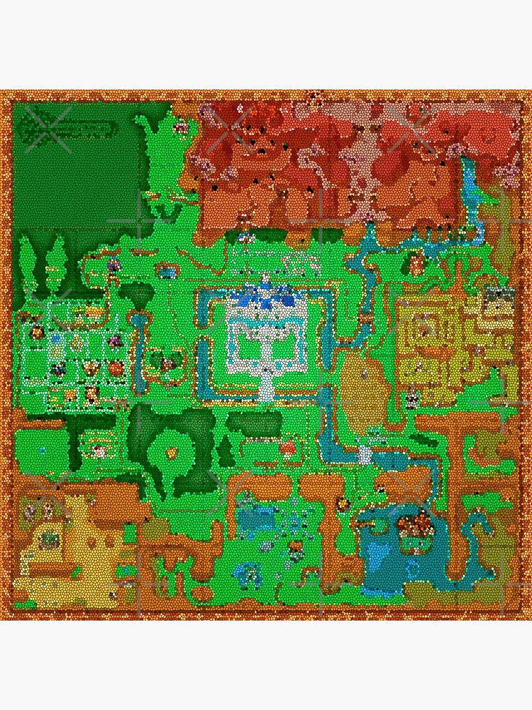 Mosaic Hyrule Map | The Legend of Zelda: A Link Between Worlds | Greeting  Card