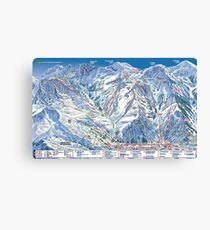 Alta Ski Resort Trail Map Utah Mountain Canvas Print
